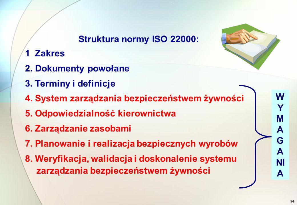 34 Systemy zarządzania bezpieczeństwem żywności.