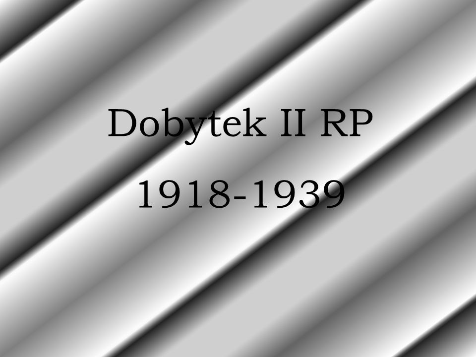 Dobytek II RP 1918-1939