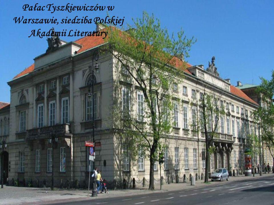 Pałac Tyszkiewiczów w Warszawie, siedziba Polskiej Akademii Literatury