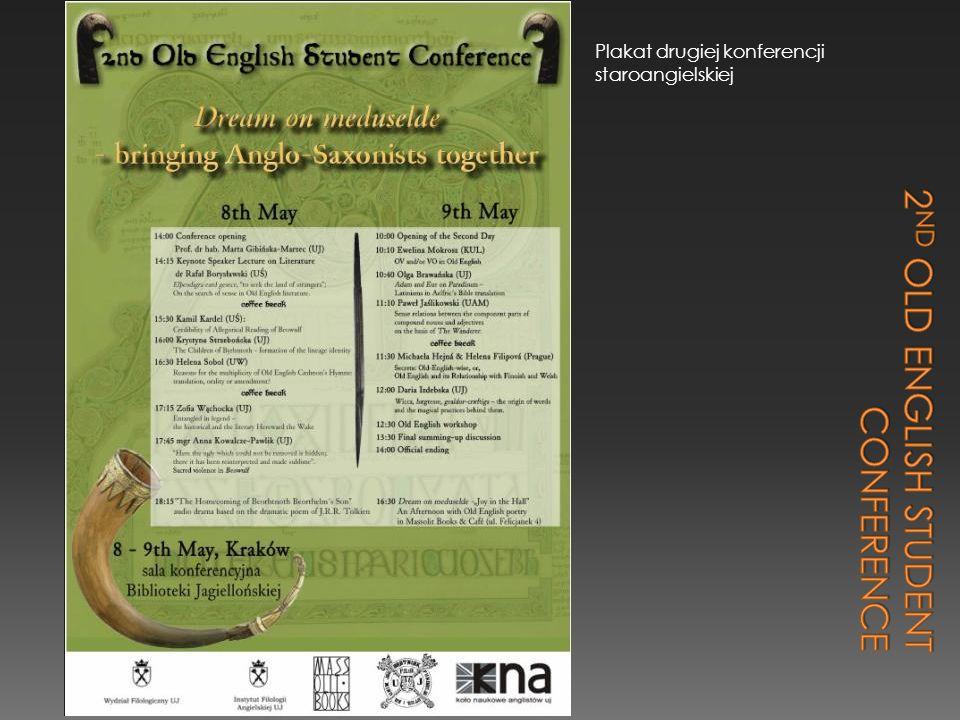 Plakat drugiej konferencji staroangielskiej