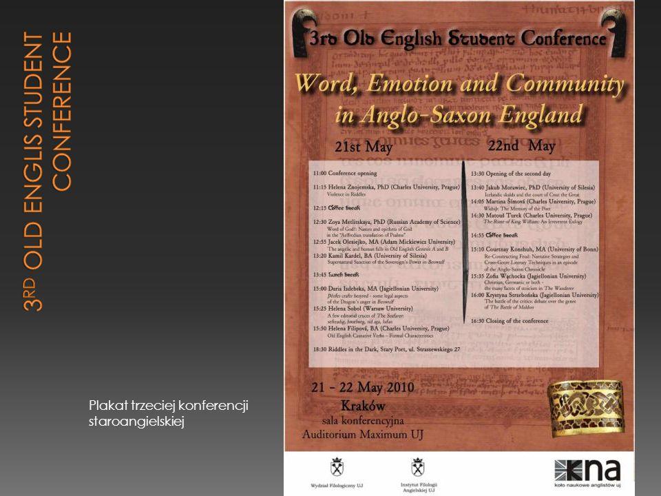 Plakat trzeciej konferencji staroangielskiej