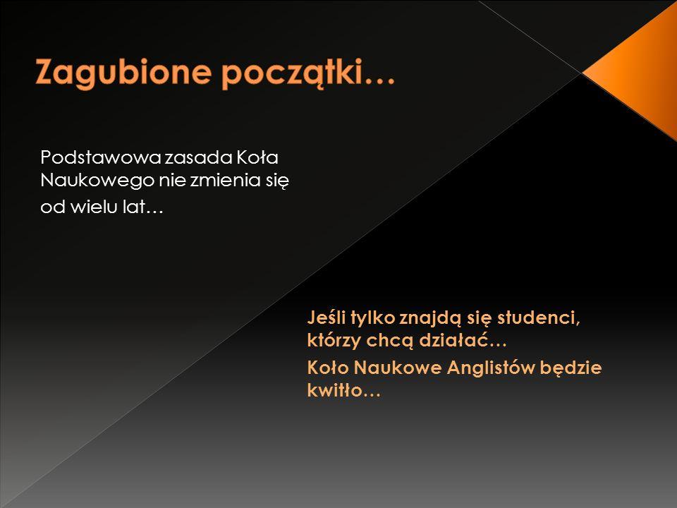 OESC SWT Old English Student Conference  Coroczna konferencja organizowana przez sekcję Old English  Początkowo skierowana do studentów i pracowników IFA  w ciągu czterech lat pozwoliła nam nawiązać kontakty ze studentami i profesorami zarówno z różnych uczelni z całej Polski jak i zza granicy (Czechy, UK, Niemcy) Studenckie Warsztaty Tłumaczeniowe  Corocznie przyciągają tłumy studentów z całej Polski  Dają szansę wzięcia udziału w wykładach, warsztatach, dyskusjach panelowych, wieczorkach poetyckich etc.