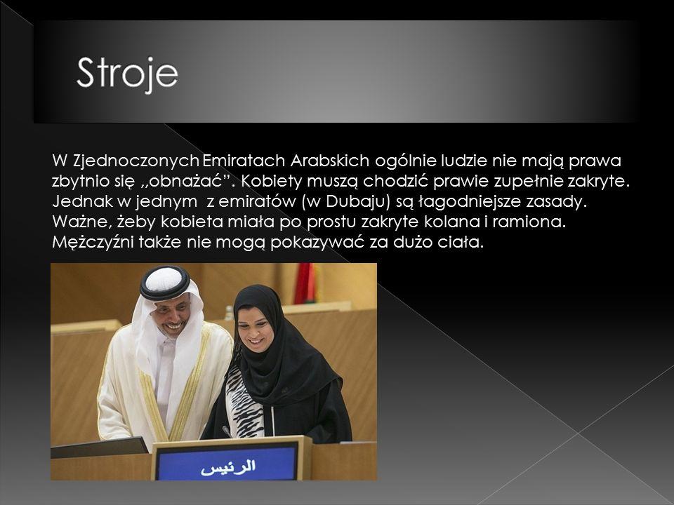 W Zjednoczonych Emiratach Arabskich ogólnie ludzie nie mają prawa zbytnio się,,obnażać .