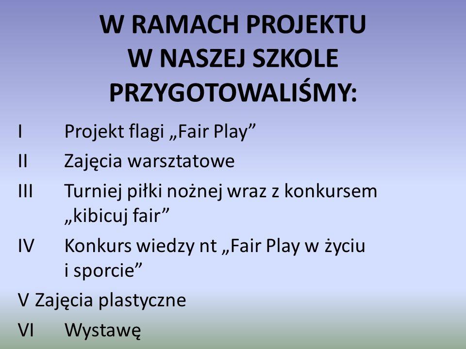 """IV Konkurs wiedzy nt. """"Fair Play w życiu i sporcie"""