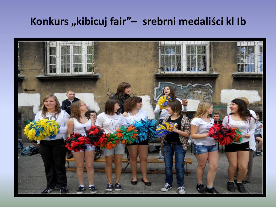 """Konkurs """"kibicuj fair""""– srebrni medaliści kl Ib"""
