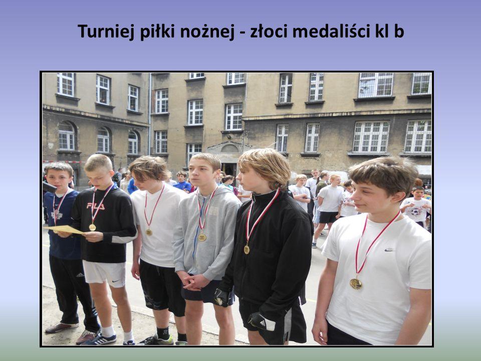 Turniej piłki nożnej - złoci medaliści kl b