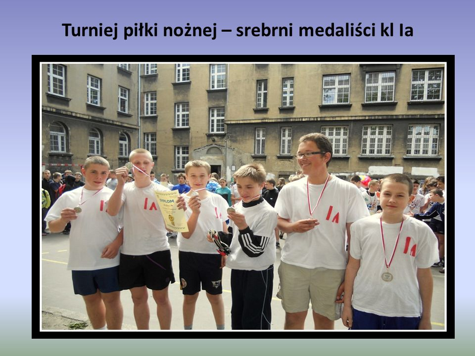 Turniej piłki nożnej – srebrni medaliści kl Ia