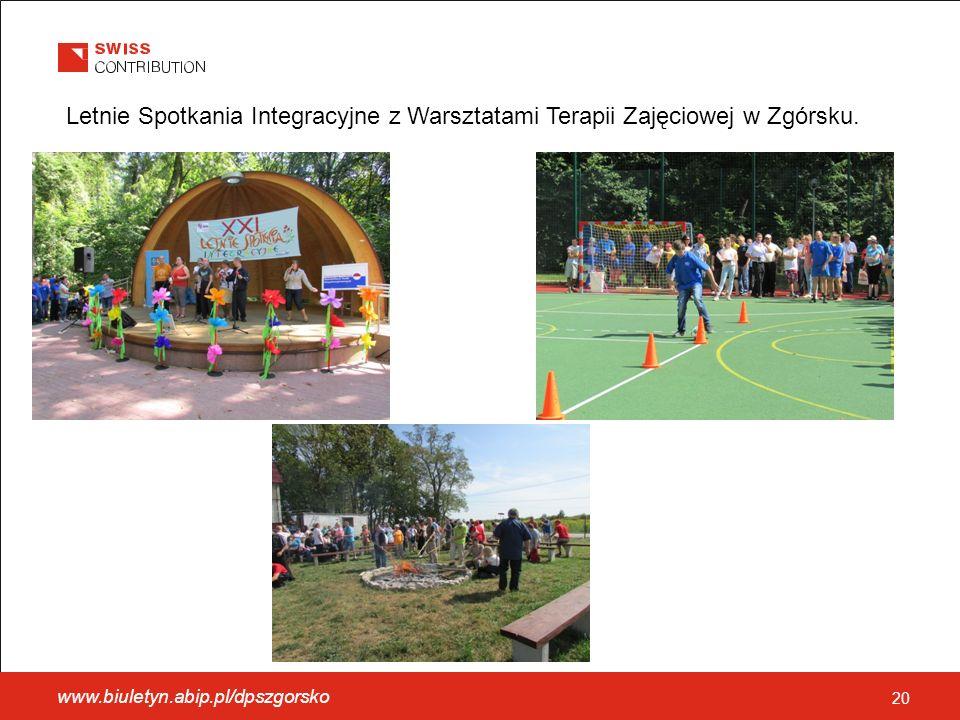 www.biuletyn.abip.pl/dpszgorsko 20 Letnie Spotkania Integracyjne z Warsztatami Terapii Zajęciowej w Zgórsku.