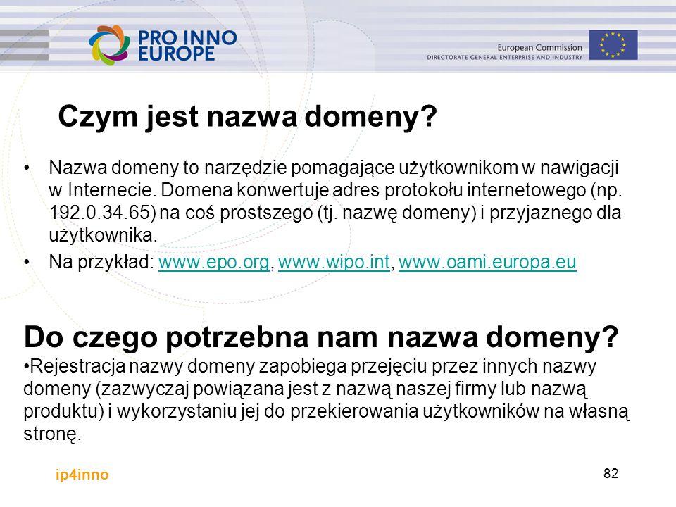 ip4inno Czym jest nazwa domeny? Nazwa domeny to narzędzie pomagające użytkownikom w nawigacji w Internecie. Domena konwertuje adres protokołu internet