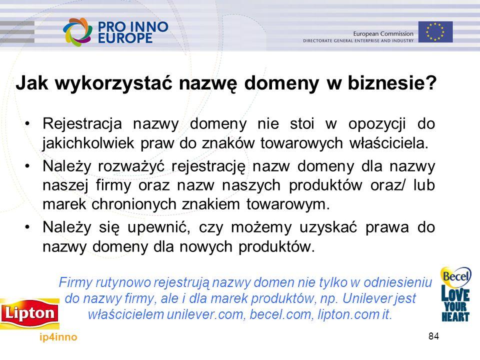 ip4inno Jak wykorzystać nazwę domeny w biznesie? Rejestracja nazwy domeny nie stoi w opozycji do jakichkolwiek praw do znaków towarowych właściciela.