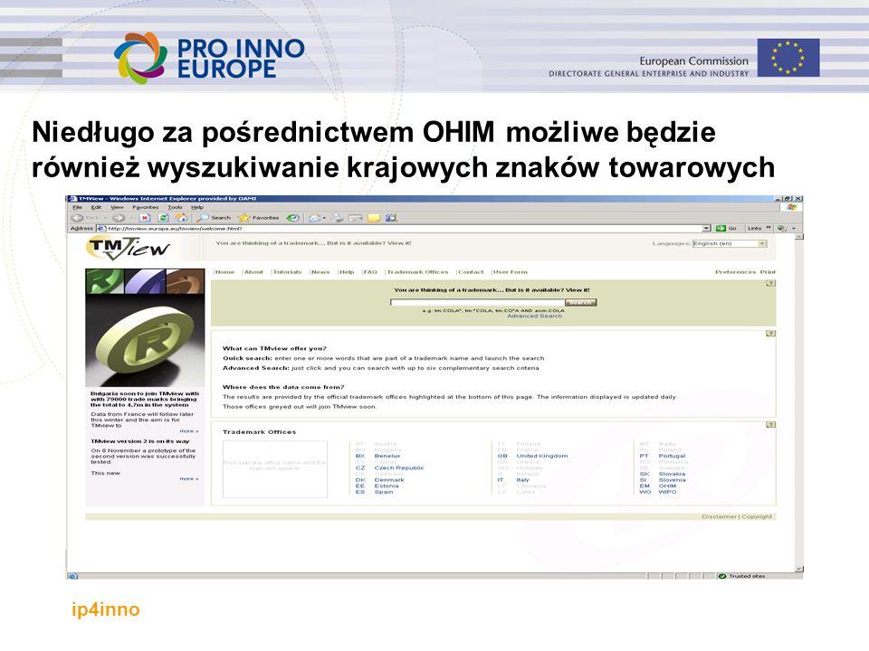 ip4inno Niedługo za pośrednictwem OHIM możliwe będzie również wyszukiwanie krajowych znaków towarowych