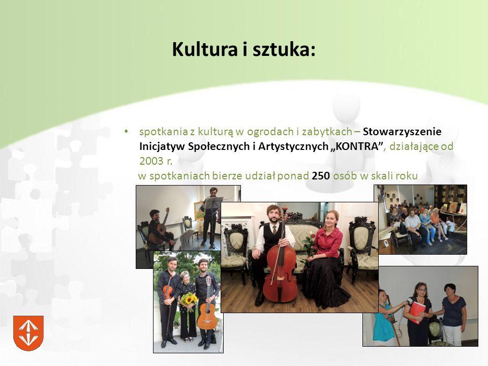 """Kultura i sztuka: spotkania z kulturą w ogrodach i zabytkach – Stowarzyszenie Inicjatyw Społecznych i Artystycznych """"KONTRA , działające od 2003 r."""