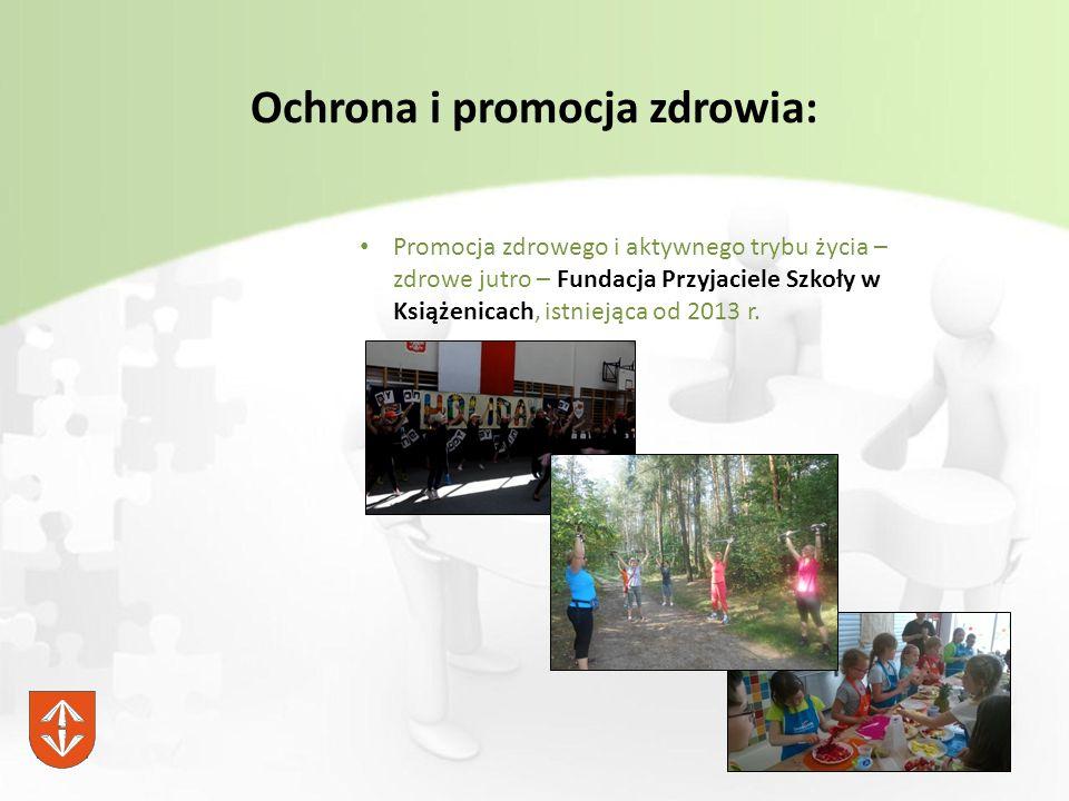 Ochrona i promocja zdrowia: Promocja zdrowego i aktywnego trybu życia – zdrowe jutro – Fundacja Przyjaciele Szkoły w Książenicach, istniejąca od 2013 r.