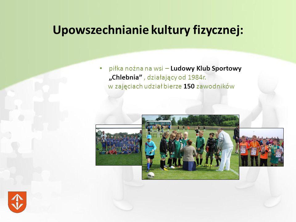 """Upowszechnianie kultury fizycznej: piłka nożna na wsi – Ludowy Klub Sportowy """"Chlebnia , działający od 1984r."""