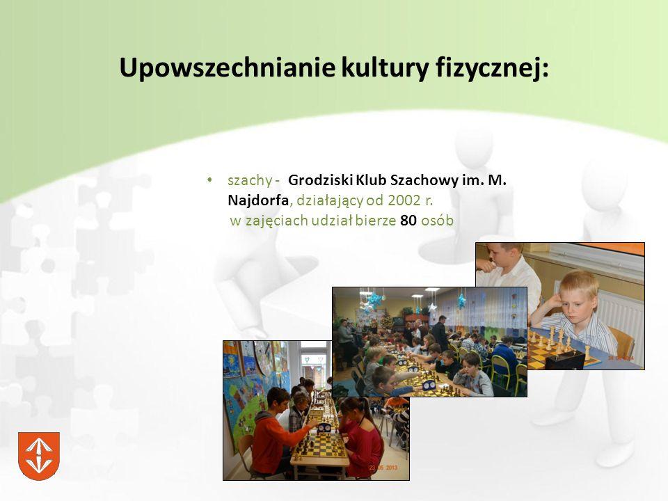 Upowszechnianie kultury fizycznej: szachy - Grodziski Klub Szachowy im.