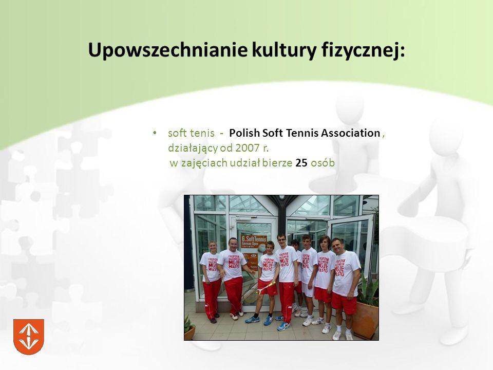 Upowszechnianie kultury fizycznej: soft tenis - Polish Soft Tennis Association, działający od 2007 r.