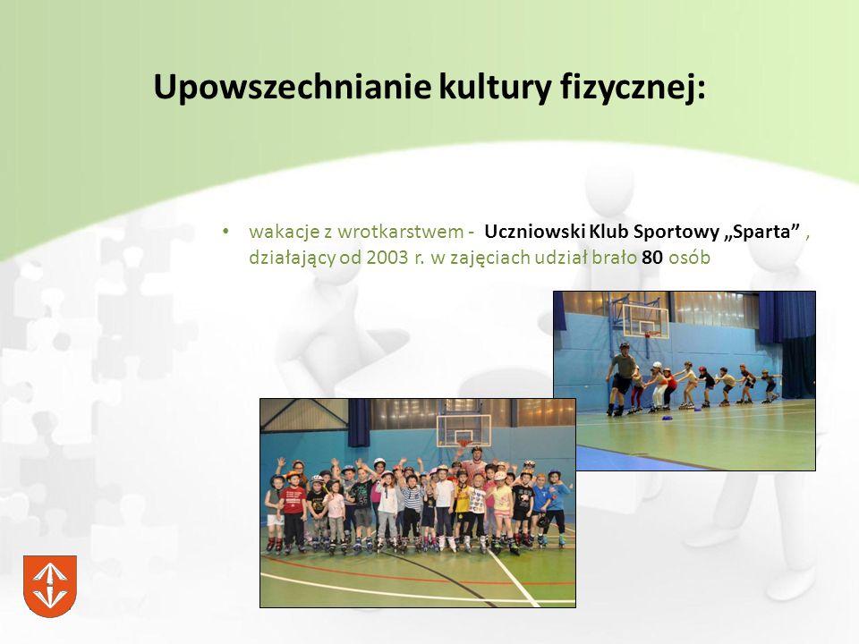 """Upowszechnianie kultury fizycznej: wakacje z wrotkarstwem - Uczniowski Klub Sportowy """"Sparta , działający od 2003 r."""