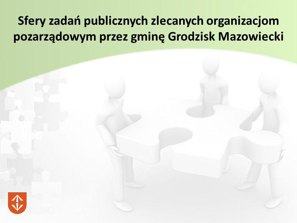 Sfery zadań publicznych zlecanych organizacjom pozarządowym przez gminę Grodzisk Mazowiecki
