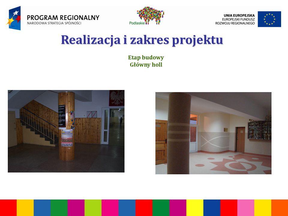 Realizacja i zakres projektu Etap budowy Główny holl