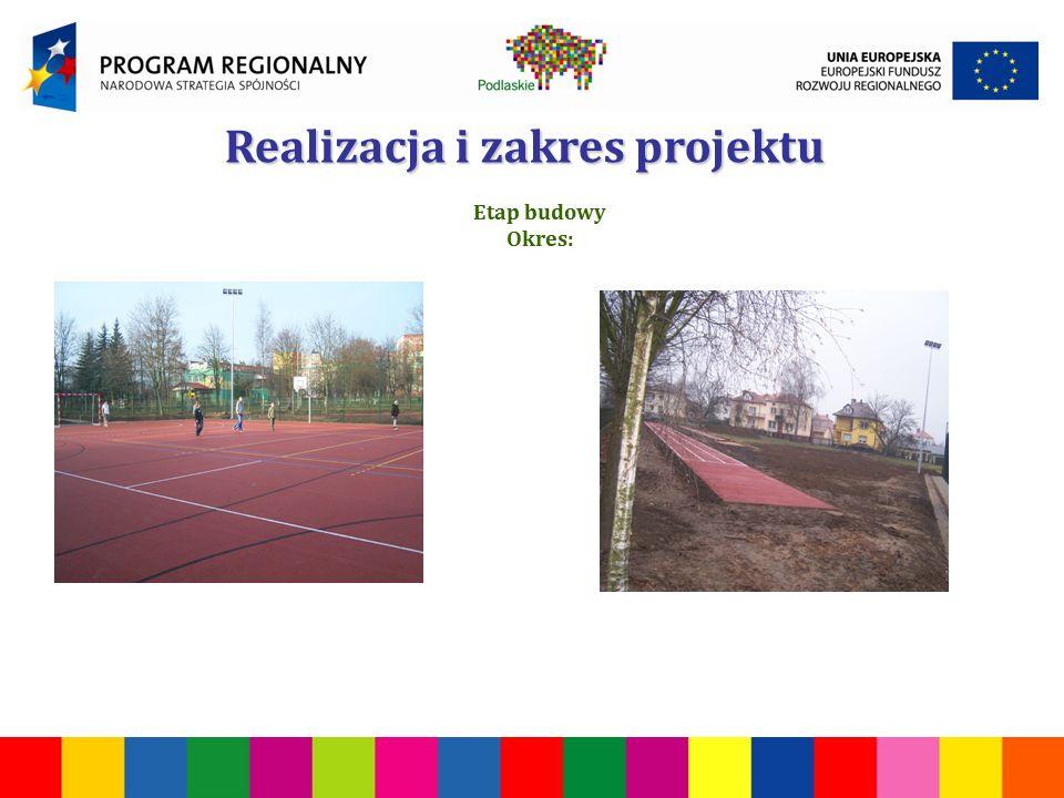 Realizacja i zakres projektu Etap budowy Okres: