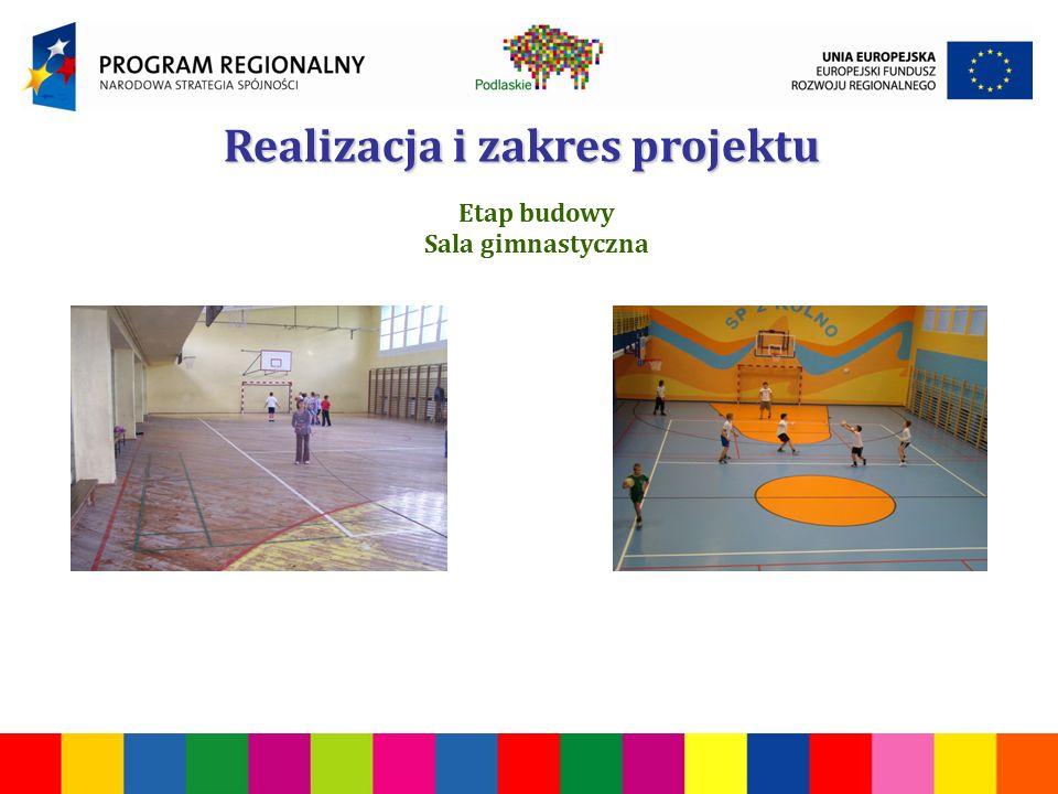 Realizacja i zakres projektu Etap budowy Sala gimnastyczna