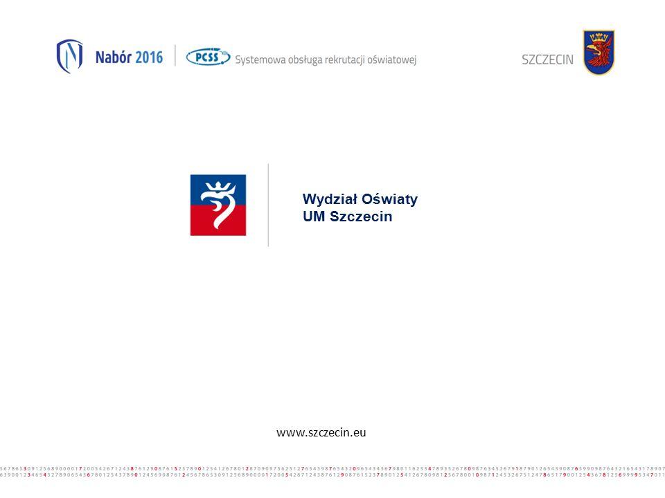 www.szczecin.eu Wydział Oświaty UM Szczecin