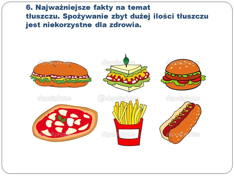 6. Najważniejsze fakty na temat tłuszczu.