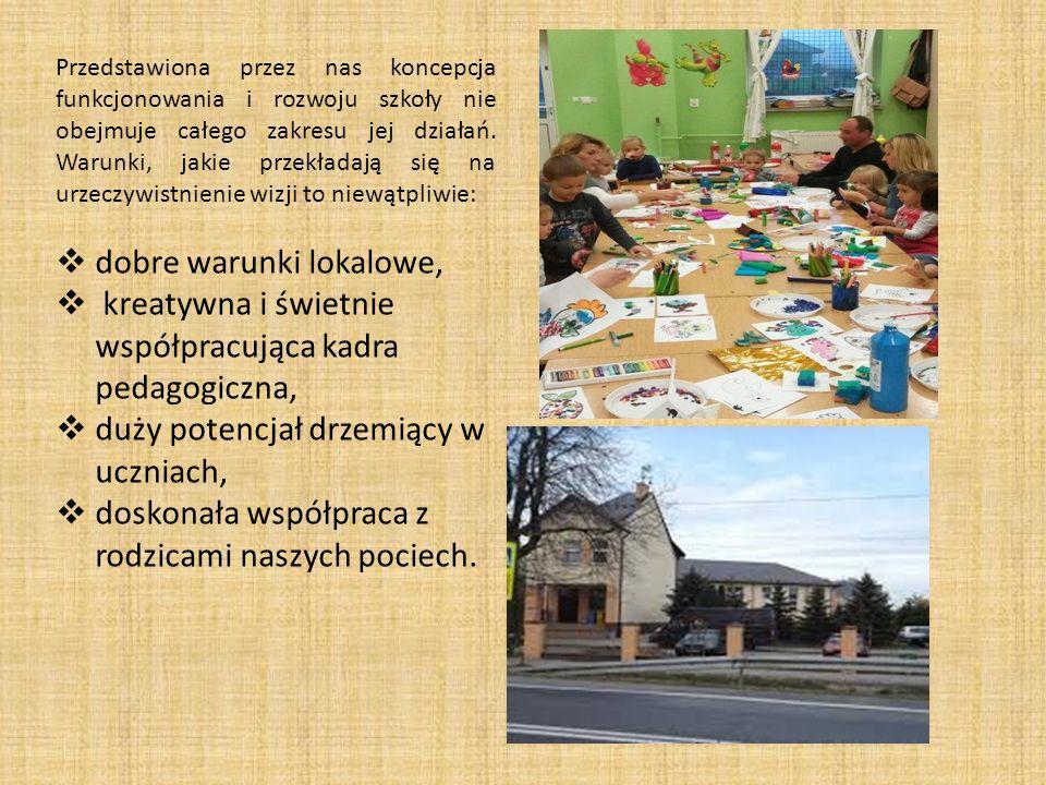 Przedstawiona przez nas koncepcja funkcjonowania i rozwoju szkoły nie obejmuje całego zakresu jej działań. Warunki, jakie przekładają się na urzeczywi