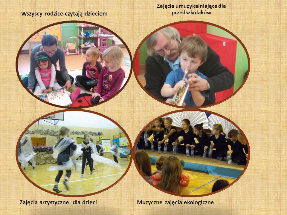 Zajęcia artystyczne dla dzieci Wszyscy rodzice czytają dzieciom Muzyczne zajęcia ekologiczne Zajęcia umuzykalniające dla przedszkolaków