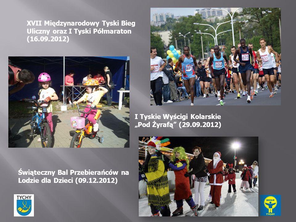 XVII Międzynarodowy Tyski Bieg Uliczny oraz I Tyski Półmaraton (16.09.2012) Świąteczny Bal Przebierańców na Lodzie dla Dzieci (09.12.2012) I Tyskie Wy