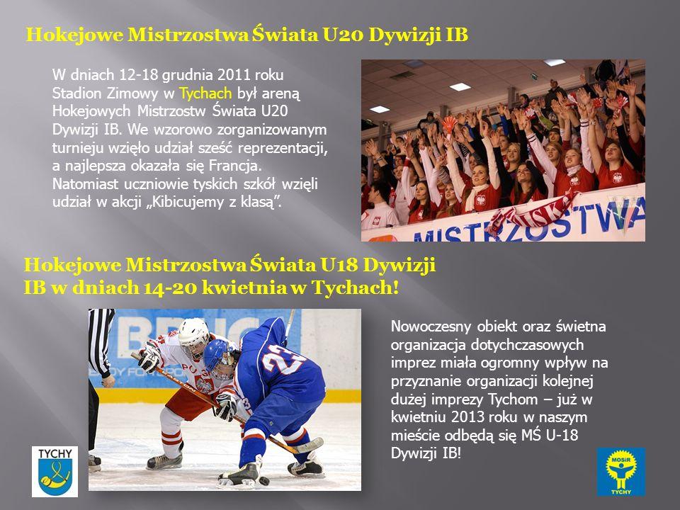 Hokejowe Mistrzostwa Świata U20 Dywizji IB W dniach 12-18 grudnia 2011 roku Stadion Zimowy w Tychach był areną Hokejowych Mistrzostw Świata U20 Dywizji IB.