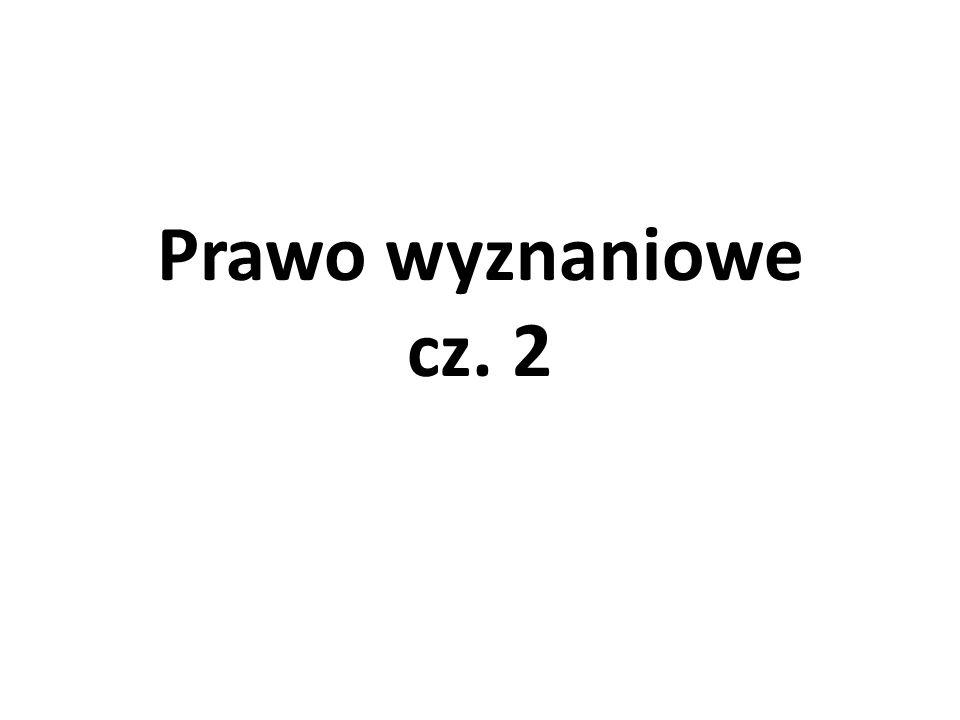 Prawo wyznaniowe cz. 2