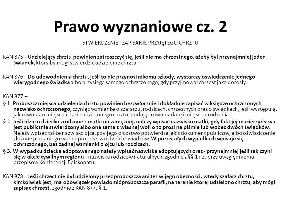 Prawo wyznaniowe cz.