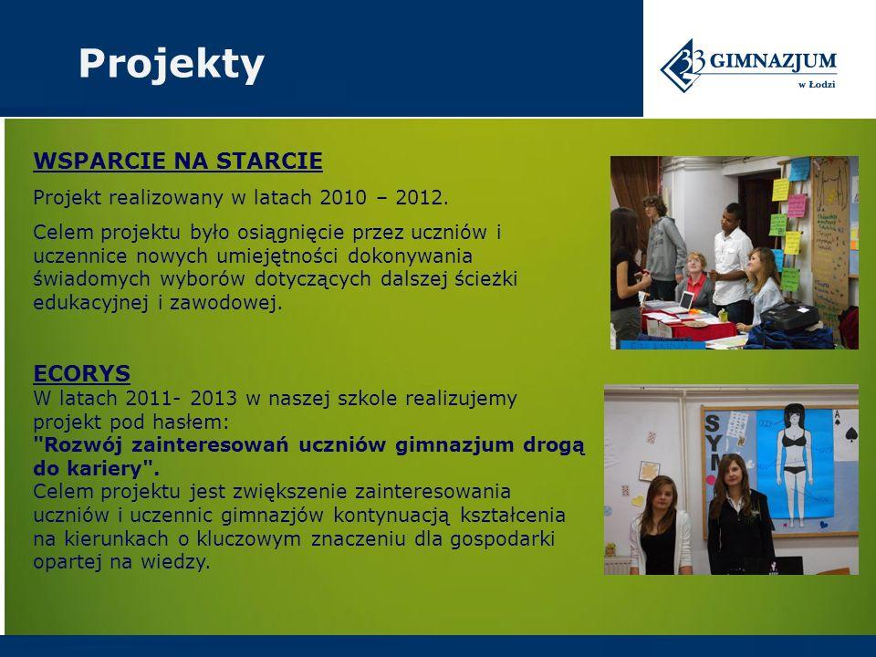 ECORYS W latach 2011- 2013 w naszej szkole realizujemy projekt pod hasłem: