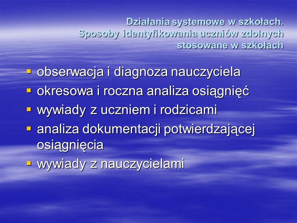 Działania systemowe w szkołach.