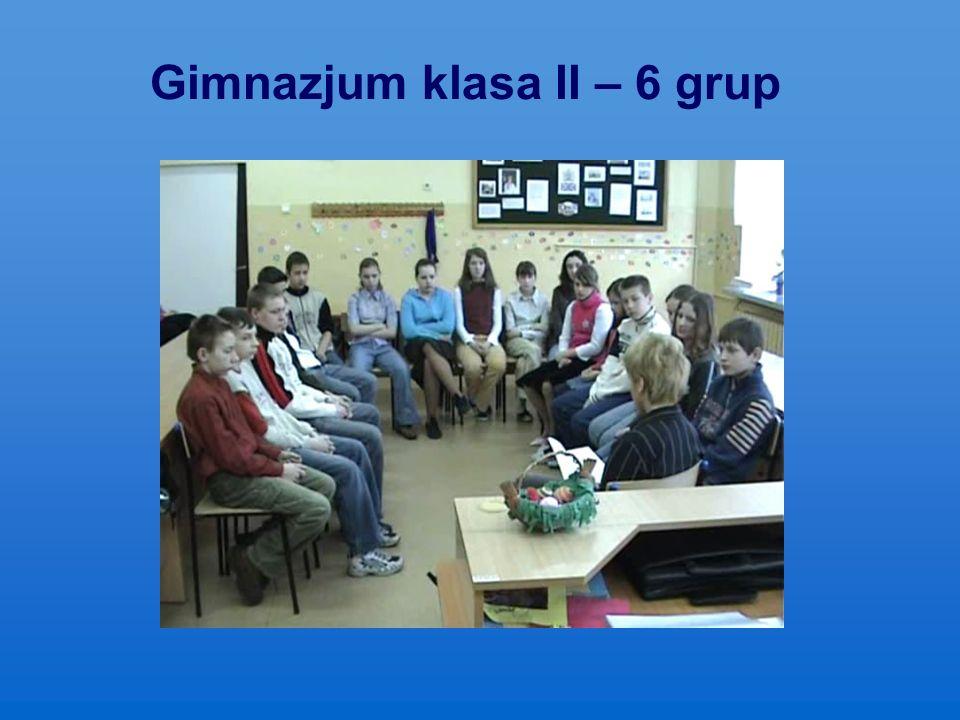 Gimnazjum klasa II – 6 grup