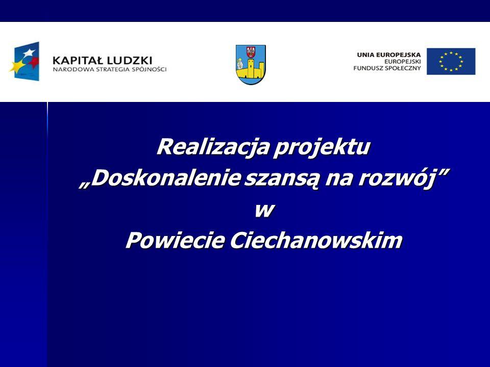"""Realizacja projektu """"Doskonalenie szansą na rozwój w Powiecie Ciechanowskim"""