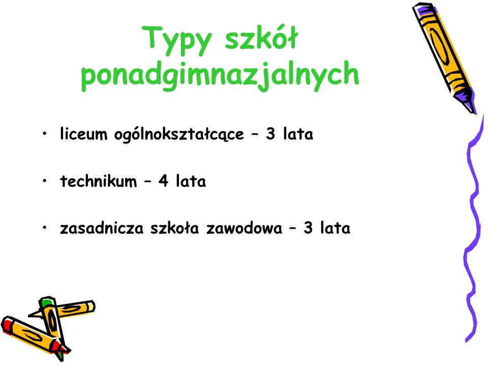 Przykład obliczania punktów w postępowaniu rekrutacyjnym do szkoły ponadgimnazjalnej na rok szkolny 2016/2017 Kryteria - egzamin gimnazjalny wyniki z egzaminu gimnazjalnego w % punkty w postępowaniu rekrutacyjnym wynik z języka polskiego62 %x 0,2 = 12,4 pkt wynik z historii i wiedzy o społeczeństwie73 %x 0,2 = 14,6 pkt wynik z matematyki54 %x 0,2 = 10,8 pkt wynik z biologii, chemii, fizyki i geografii 48 %x 0,2 = 9,6 pkt wynik z języka obcego na poziomie podstawowym65 %x 0,2 = 13,0 pkt suma60,4 pkt Kryteria - świadectwo ocena z języka polskiego(dobry) 12 pkt ocena z I przedmiotu (np.
