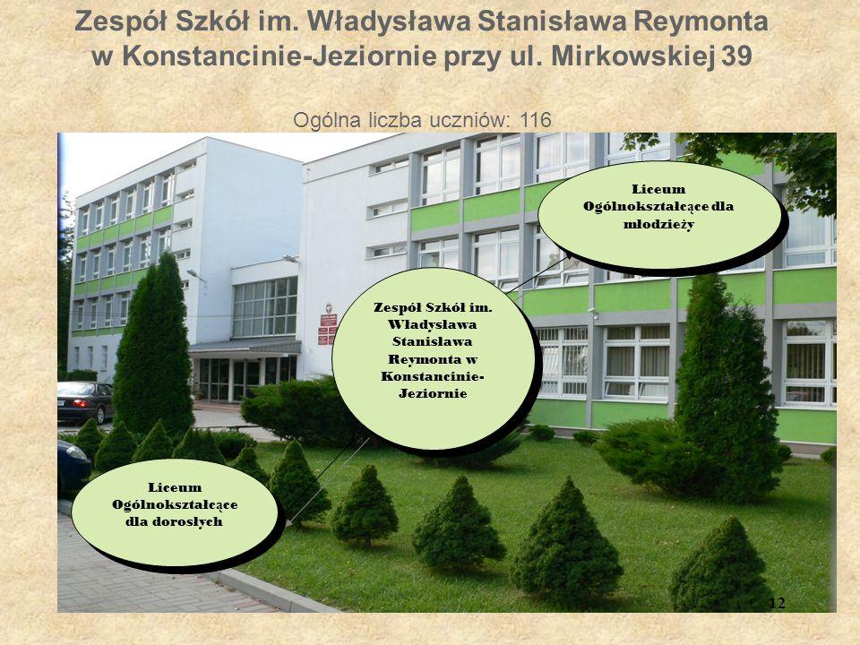 Zespół Szkół im. Władysława Stanisława Reymonta w Konstancinie-Jeziornie przy ul.