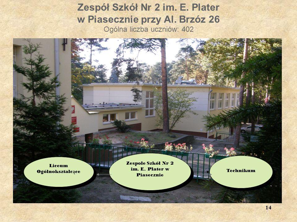 Zespół Szkół Nr 2 im. E. Plater w Piasecznie przy Al.