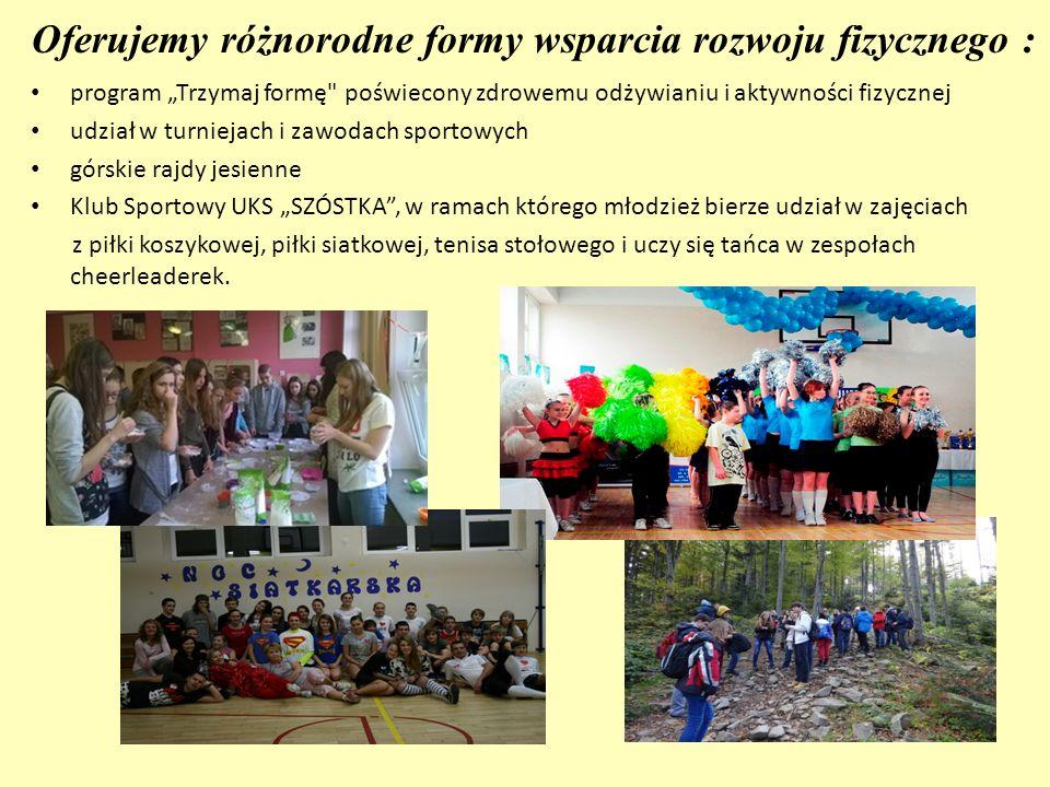 """Oferujemy różnorodne formy wsparcia rozwoju fizycznego : program """"Trzymaj formę"""