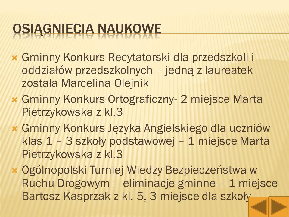 """ Turniej międzygimnazjalny """"Pierwsza pomoc medyczna – Adam Bączyk, Anna Kopeć i Karol Świerczyński z kl."""