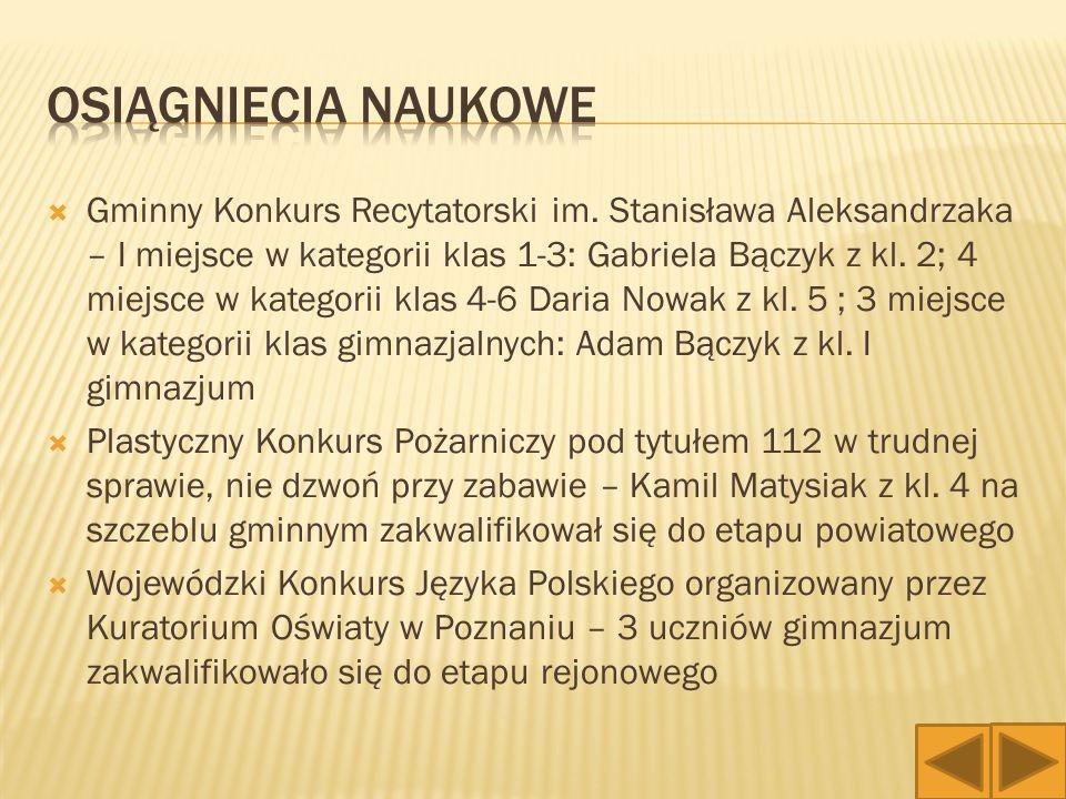 """ I miejsce awans do finału powiatowego oraz zawodów z cyklu """"Cekowska wiosna Kamil Matysiak z kl."""