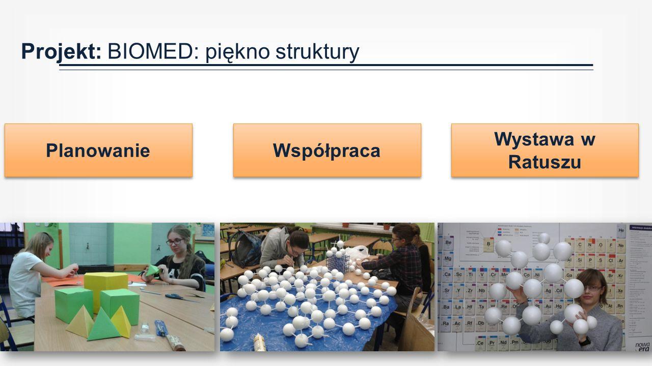 Projekt: BIOMED: piękno struktury Planowanie Wystawa w Ratuszu Współpraca