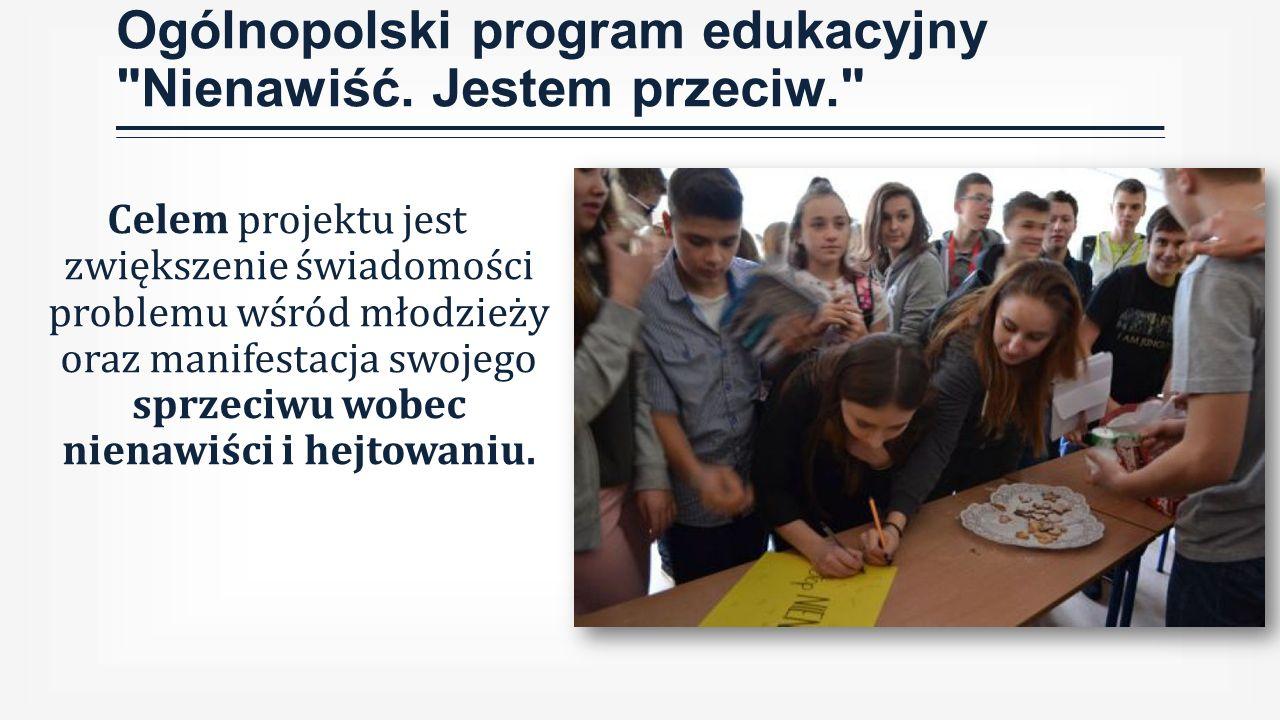 Ogólnopolski program edukacyjny Nienawiść.