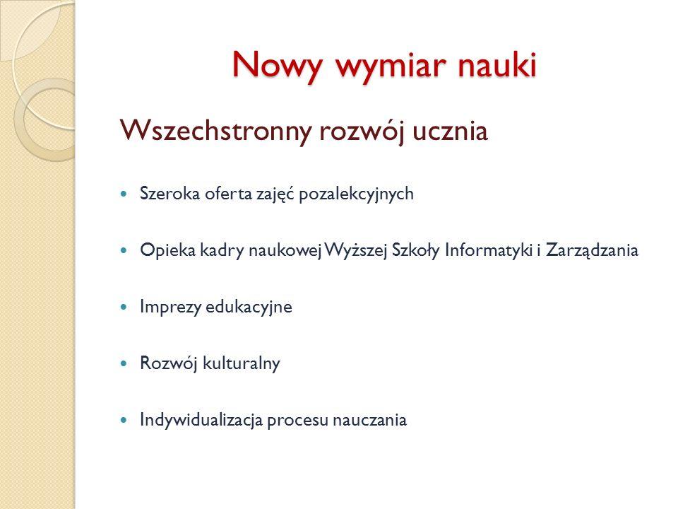 Serdecznie zapraszamy Prywatne Gimnazjum Informatyczne Szkoła pod patronatem Wyższej Szkoły Informatyki i Zarządzania w Bielsku-Białej 43-300 Bielsko-Biała ul.