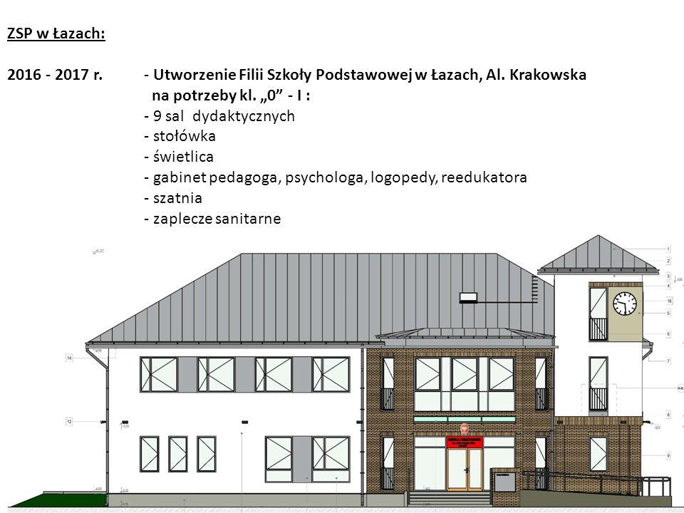 ZSP w Łazach: 2016 - 2017 r.- Utworzenie Filii Szkoły Podstawowej w Łazach, Al.