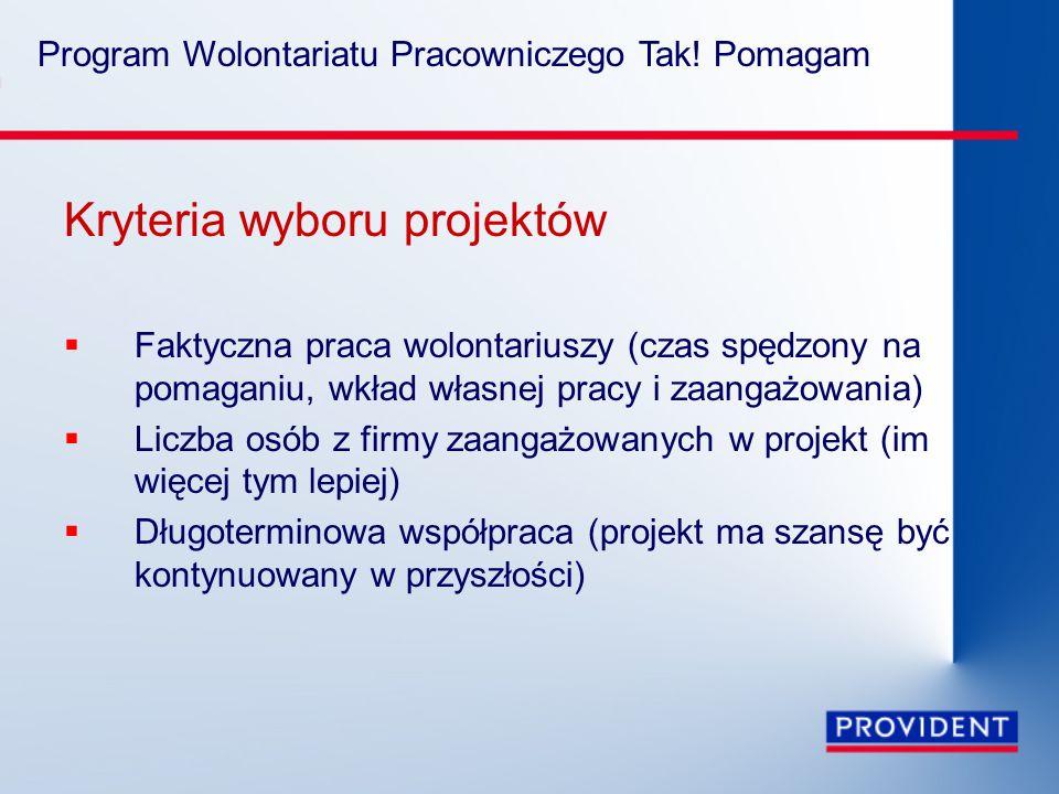 Program Wolontariatu Pracowniczego Tak.
