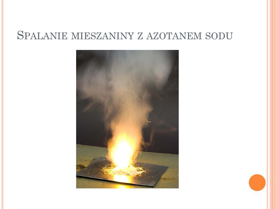 S PALANIE MIESZANINY Z AZOTANEM SODU