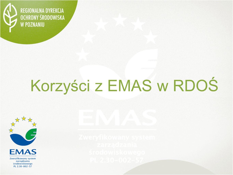 Korzyści z EMAS w RDOŚ